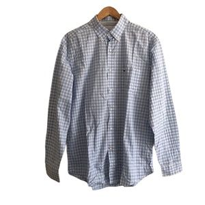 Lacoste Long Sleeve Button-Down Gingham Shirt